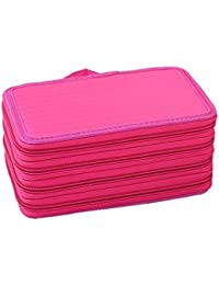 Cosanter Estuche Caja de Lapices Colores 72 Ranuras Portálapices Organizador de Gran Capacidad para Acuarela Arte Oficina y Maquillaje Rojo