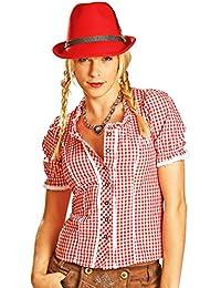 Trachtenbluse Daniela - Schöne Karo Trachten Bluse für Damen