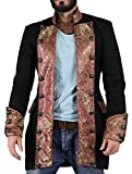 Eimee Men's Cotton Shrine Gothic Steampunk Vintage Dress Coat Pirate Miltary Top SPML