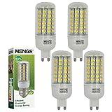 4x MENGS® G9 LED lampe 9W AC 220-240V Kaltweiß 6500K 69x5730 SMD