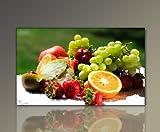 Berger Designs Bild auf echter Leinwand BESPANNT & GERAHMT (Exotic Fruits 2 x 60x100cm) Bilder fertig gerahmt mit Keilrahmen. Ausführung Kunstdruck als Wandbild mit Rahmen.