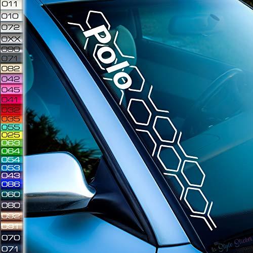 kompatibel mit VW Polo Aufkleber Wabenmuster Rauten Frontscheibenaufkleber Volks Wagen Sticker Tuning Autoaufkleber