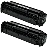 2 Logic-Seek Toner kompatibel zu HP CF380X 312A für Color LaserJet Pro MFP M476 DN DW NW M470 Series - Schwarz je 4.400 Seiten