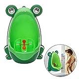 Aolvo stehend Töpfchen Urinal, Kleinkind Little Boy Froggy Töpfchen Training Urinal-Druckspüler Tragbare Toilette mit Funny Target Wurfspiel grün