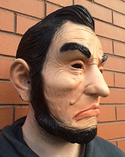 x Maske Abe Ex President Halloween Kostüm American Patriot USA Maskottchen By Coopers tm (Halloween-ex)
