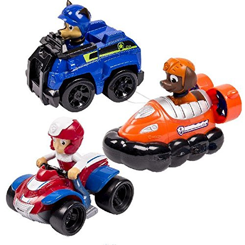 Paw Patrol – Racers Team Pack – Chase, Zuma & Ryder – Set 3 Mini Vehículos al Rescate La Patrulla Canina