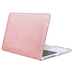 sports shoes 7dd57 865f3 MOSISO Plastic Bling Hard Case Cover Only MacBook Pro 13 Retina Displ  (Shining Rose Golden)