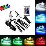 POSSBAY RGB 5050 4x9 LED Auto Innenbeleuchtung mit Fernbedienung DC 12V Innendekoration Licht