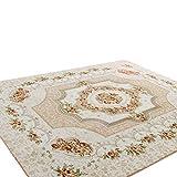 CHENGYANG tappeti da Salotto Tappeto orientali Motivo Floreale Tappeti Rettangolo Orientale e Classico Tappeto Camera Letto Cachi 130cm x 190cm