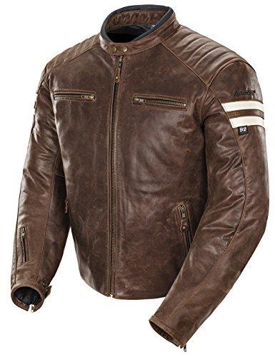 Joe Rocket Classic '92 Men's Leather Motorcycle Jacket (Brown/Cream, Large) by Joe Rocket - Mens Joe Rocket