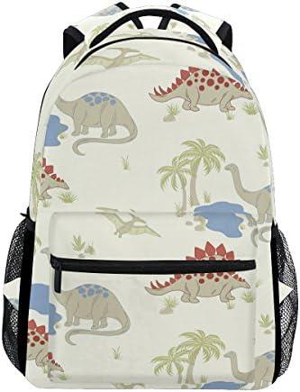 TIZORAX Dinosaure palmier Sac à dos Sac d'école pour ran ée Voyage Sac à dos B07D6JHF2F | L'apparence élégante