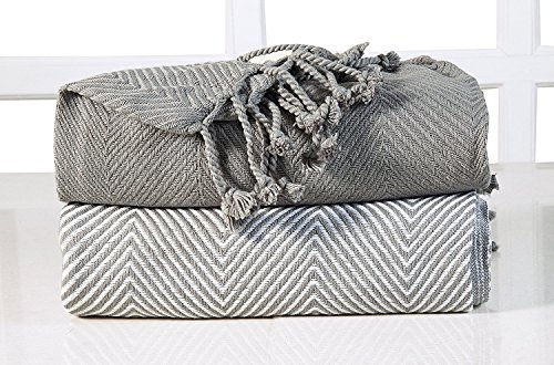 EHC Chevron algodón Single Manta de sofá