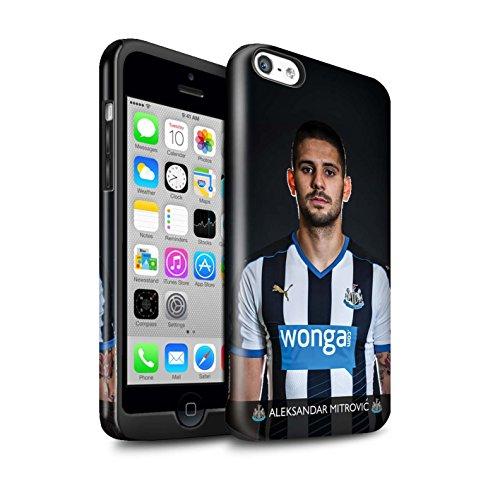 Offiziell Newcastle United FC Hülle / Glanz Harten Stoßfest Case für Apple iPhone 5C / Pack 25pcs Muster / NUFC Fussballspieler 15/16 Kollektion Mitrovic