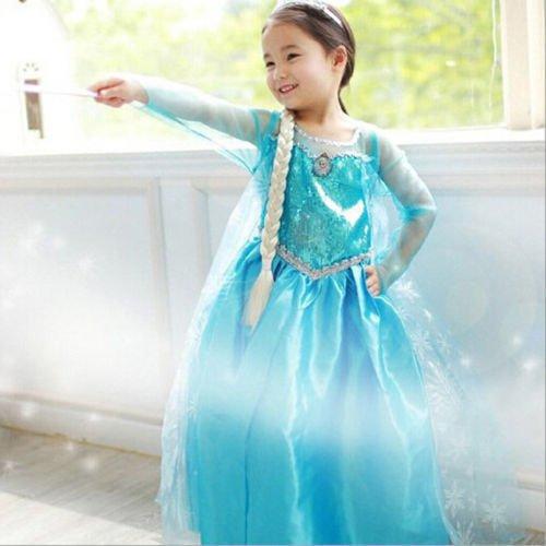 Imagen de disfraz anna elsa frozen con varita y corona 110 3 4 años