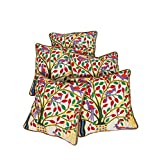 Rajrang Home Decor Off White Cotton Embroidered Cushion Cover - B00UYIFMBA