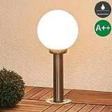 Luminaire extérieur 'Vedran' (Moderne) en Gris en Verre (1 lampe,à E27, A++) de Lampenwelt | borne eclairage exterieur, borne lumineuse exterieur, eclairage exterieur, luminaire exterieur, luminaire