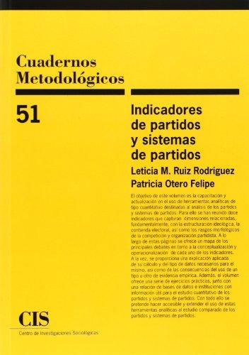 Cuadernos Metodológicos 51-Indicadores de partidos y sistemas de partidos