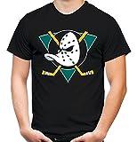 Mighty Ducks Männer und Herren T-Shirt | Trikot Film Kult Geschenk | M3 (XL, Schwarz)