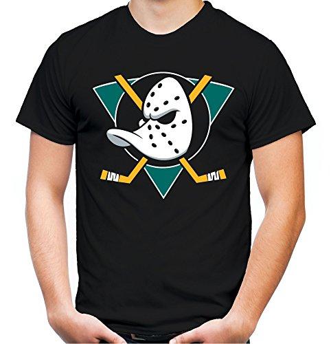 (Mighty Ducks Männer und Herren T-Shirt | Trikot Film Kult Geschenk | M3 (M, Schwarz))