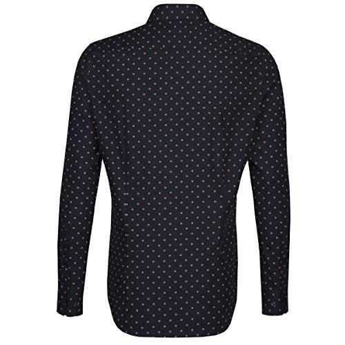 Michaelax-Fashion-Trade Camicia Classiche - Basic - Classico - Maniche Lunghe - Uomo Blu (10)