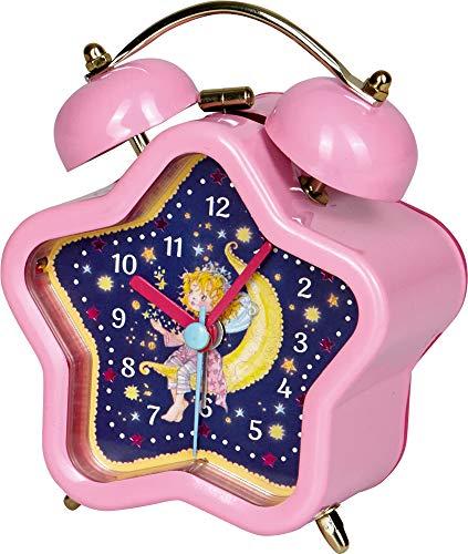 Prinzessin Lillifee Sternen Kinder Wecker aus Metall mit geräuscharmen Uhrwerk