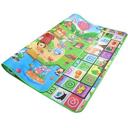 Baby-Spiel-Matte Bodenspiel-Matten-Spiel-Matten-Baby-Spielmatte Extra Large Baby-Crawling Spiel-Matten Tragbare Kinder Kleinkind im Freien oder in der Ha ( Color : Elephants+Zoo , Size : 0.5*150*180 )