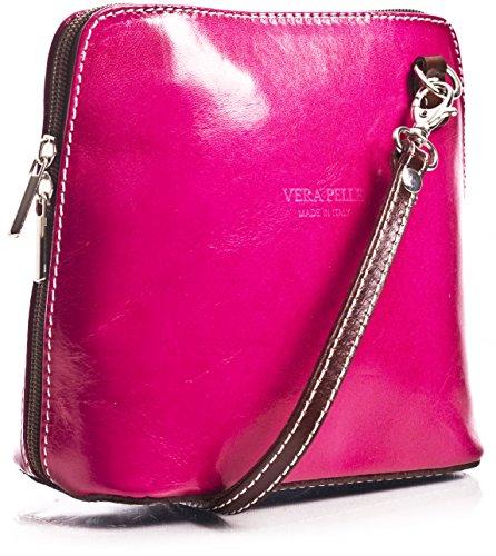 Big Handbag Shop, Borsa a tracolla donna One Magenta Pink - Brown