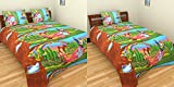 Krishna 200 TC 2 Cotton Bedsheets with 3...