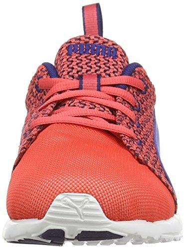 Puma Carson Runner Knit  Damen Laufschuhe Rot (cayenne-bleached denim-astral aura 02)