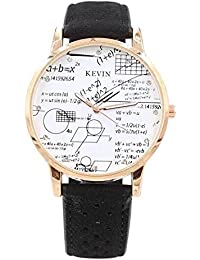Zillion Maths Solution Printed Dial Black Strap Analogue Watch For Womens, Girls