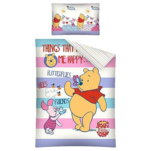 Disney's Winnie the Pooh, Baby Bed Duvet Set, Cotton Duvet Cover, 100 x 135 cm