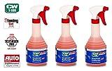 PRAKTISCHES SET 3 x 500 ml CW1:100 Dr WACK PREMIUM INSEKTENENTFERNER Super-Gel-Formel