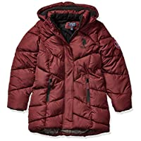 US Polo Association Girls' Little Outerwear Jacket (More Styles Available), Merlot, 4
