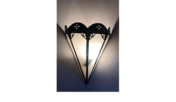 Etnico arredo applique da muro lampada lanterna in alluminio