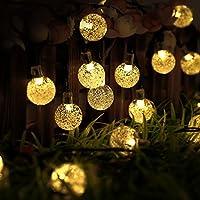 NNIUK 20 Bubble LED sfera di cristallo luci leggiadramente della stringa a pile luce per Natale matrimoni parti Fase Casa Giardino. - Guardare La Finestra Sul Cortile