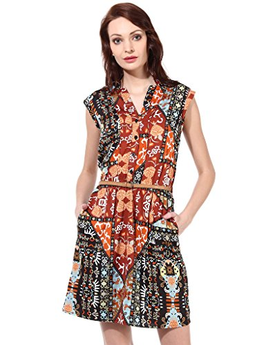 Oxolloxo Women floral printed dress  available at amazon for Rs.434
