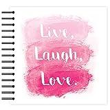"""Simply Creative Plain White - Live, Laugh, Love Scrapbook Album 8""""x8"""" (40 Pages)"""