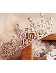 &zhou Tocado nupcial de la joyería del pelo por los accesorios 14 * 5.5cm del vestido de boda de la mano