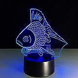 Die besten Verkauf von Tischleuchten - Shuyinju Heißer Verkauf 3D Nigh Light Der Goldfisch-Fernbedienung Bewertungen
