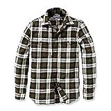 """'Carhartt camicia maglietta camicia da lavoro uomo Trumbull Slim Fit Flannel """" Olive L"""