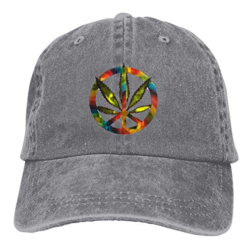 Presock Leaf Forest Peace Cowboy Cap Unisex Adjustable Dad Baseball Hat Gray
