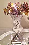 Trumpet Keramikvase Trompetenvase Dekovase Blumenvase Vase Keramik Shabby Chic Rosen 20 cm