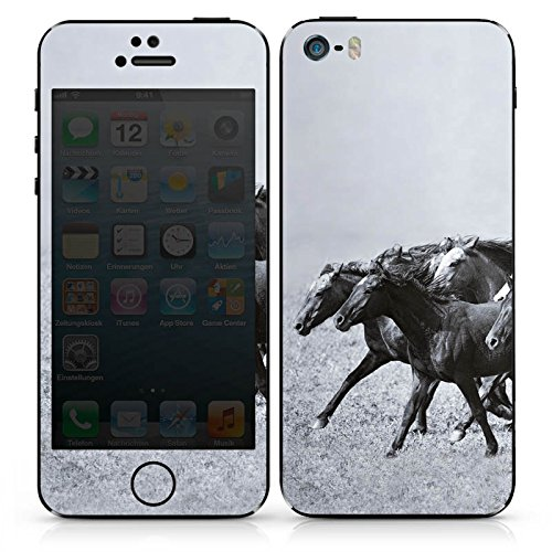 Apple iPhone SE Case Skin Sticker aus Vinyl-Folie Aufkleber Pferde Pferd Mustang DesignSkins® glänzend