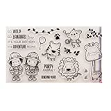 ECMQS Adorable Kids DIY Transparente Briefmarke, Silikon Stempel Set, Clear Stamps, Schneiden Schablonen, Bastelei Scrapbooking-Werkzeug