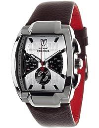 DeTomaso DT1035-B - Reloj analógico de cuarzo para hombre con correa de piel, color marrón