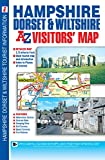 Hampshire, Dorset & Wiltshire Visitors Map (A-Z Road Map)