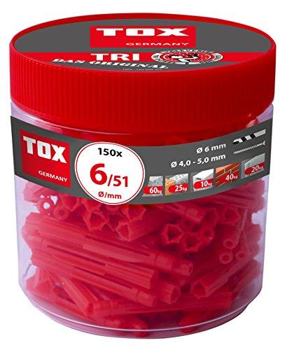 Preisvergleich Produktbild TOX Allzweckdübel Tri 6 x 51 mm in Runddose,  Dübel für fast alle Baustoffe,  150 Stück,  010260041