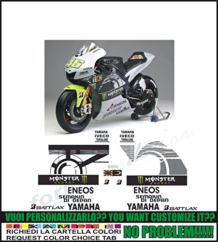 Emanuel & Co Kit adesivi decal stikers yamaha YZF R1 R6 REPLICA MOTO GP 2013 TEST SEPANG ROSSI (ability to customize the colors)
