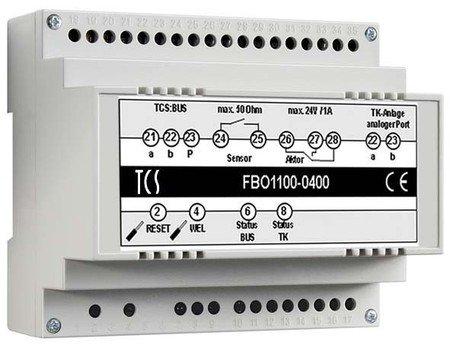 TCS Tür Control Bus-Interface FBO1100-0400 für TK-Anlagen Zusatzgerät für Türkommunikation 4035138021906 Alarm Control Interface