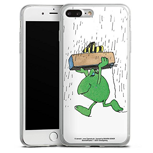 Apple iPhone 8 Plus Slim Case Silikon Hülle Schutzhülle Janosch Fanartikel Merchandise Günter Kastenfrosch Silikon Slim Case transparent